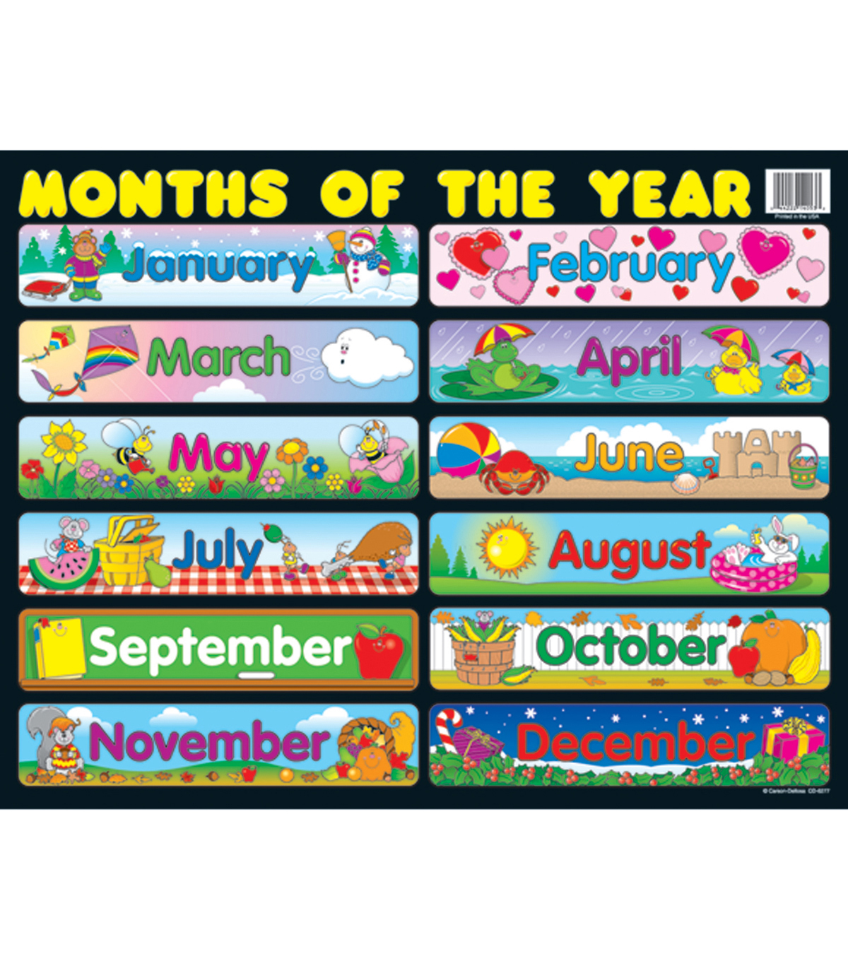 Carson-Dellosa Months of the Year Seasonal Chart 6pk