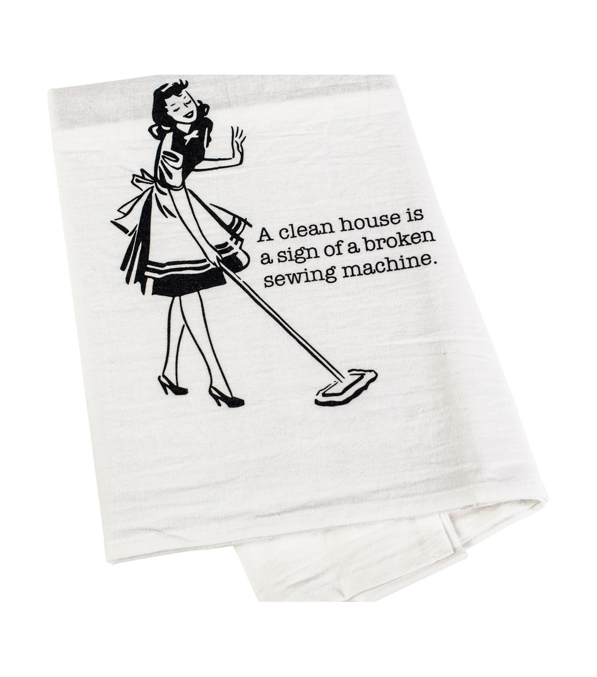 Aunt Martha\u0027s Dirty Laundry Flour Sack Towels-A Clean House Is A Sign