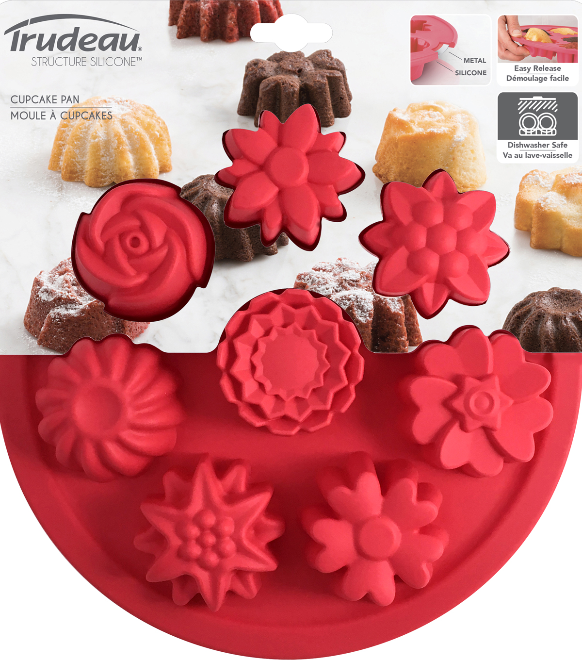Silicone Cake Mold Pan-Flowers 8 Cavity