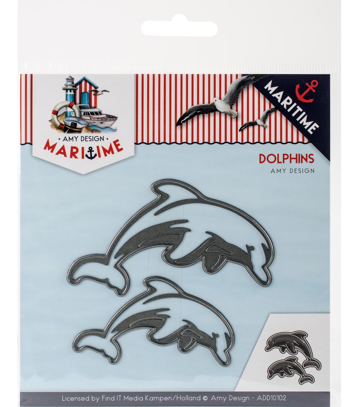 Find It Trading Amy Design Maritime Die-Dolphins