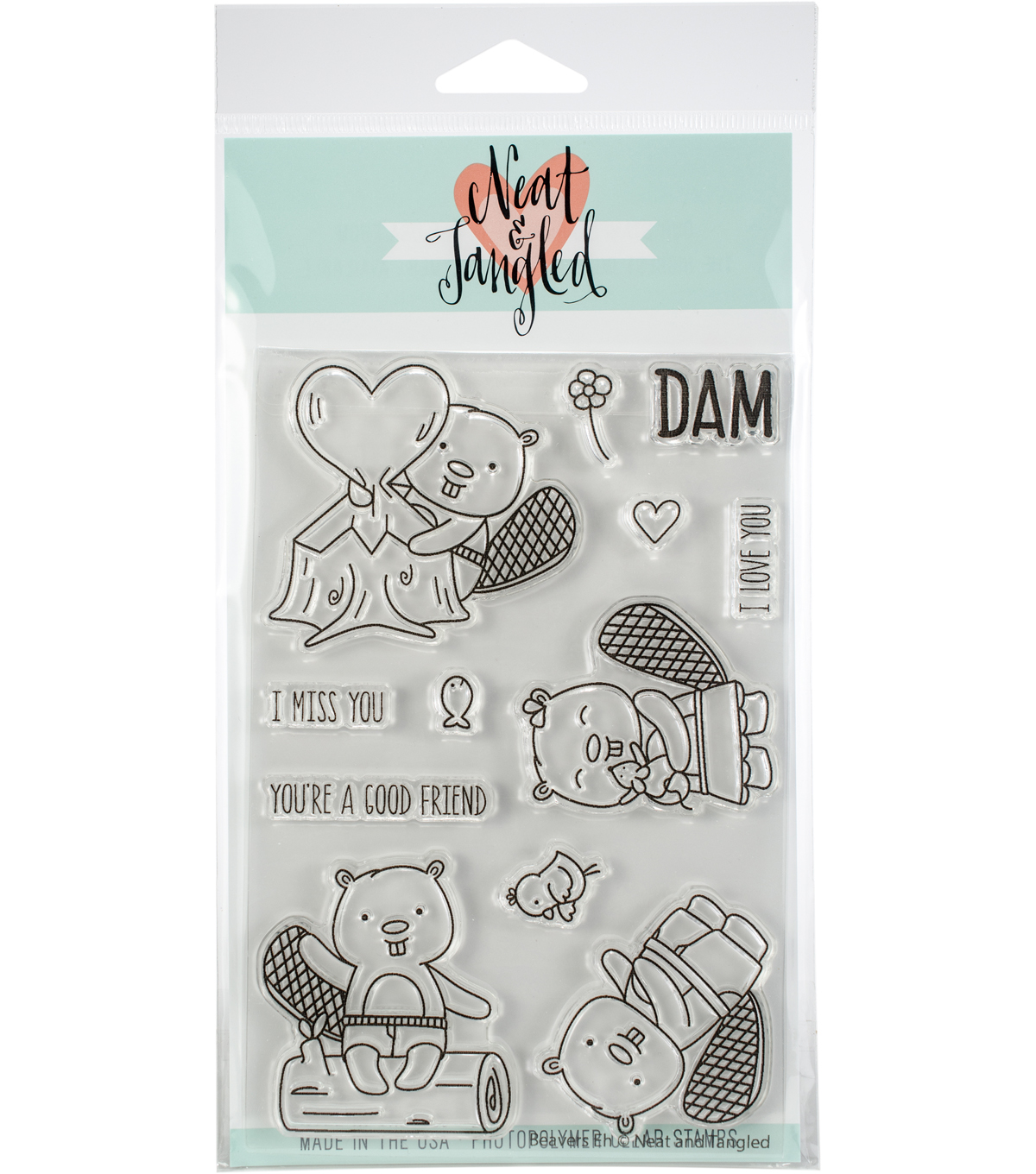 Neat & Tangled 12 pk Clear Stamps-Beavers Eh