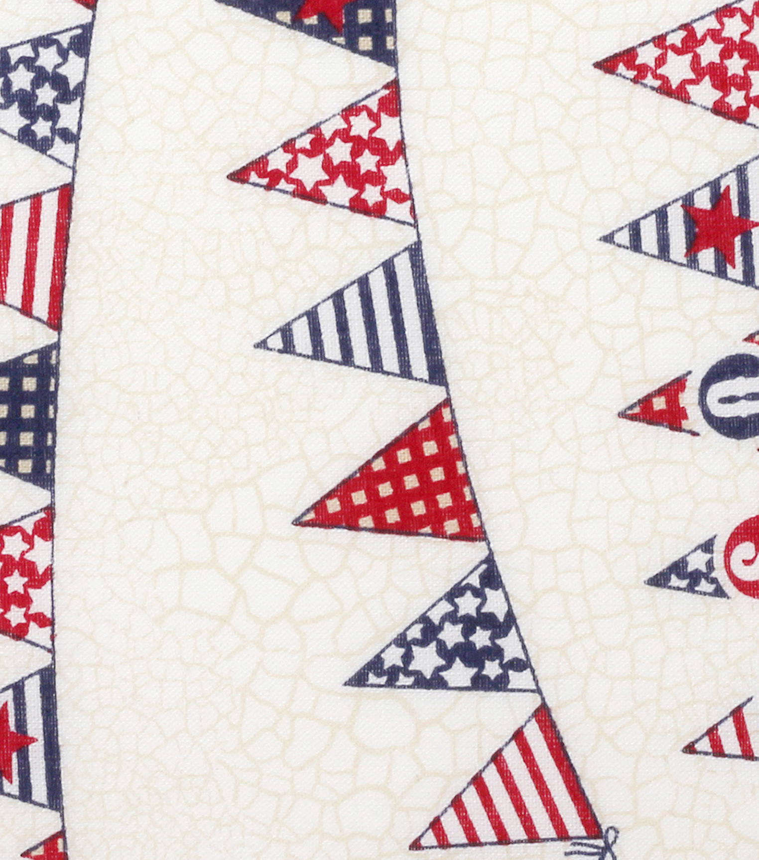 Patriotic Cotton Fabric -USA Banner