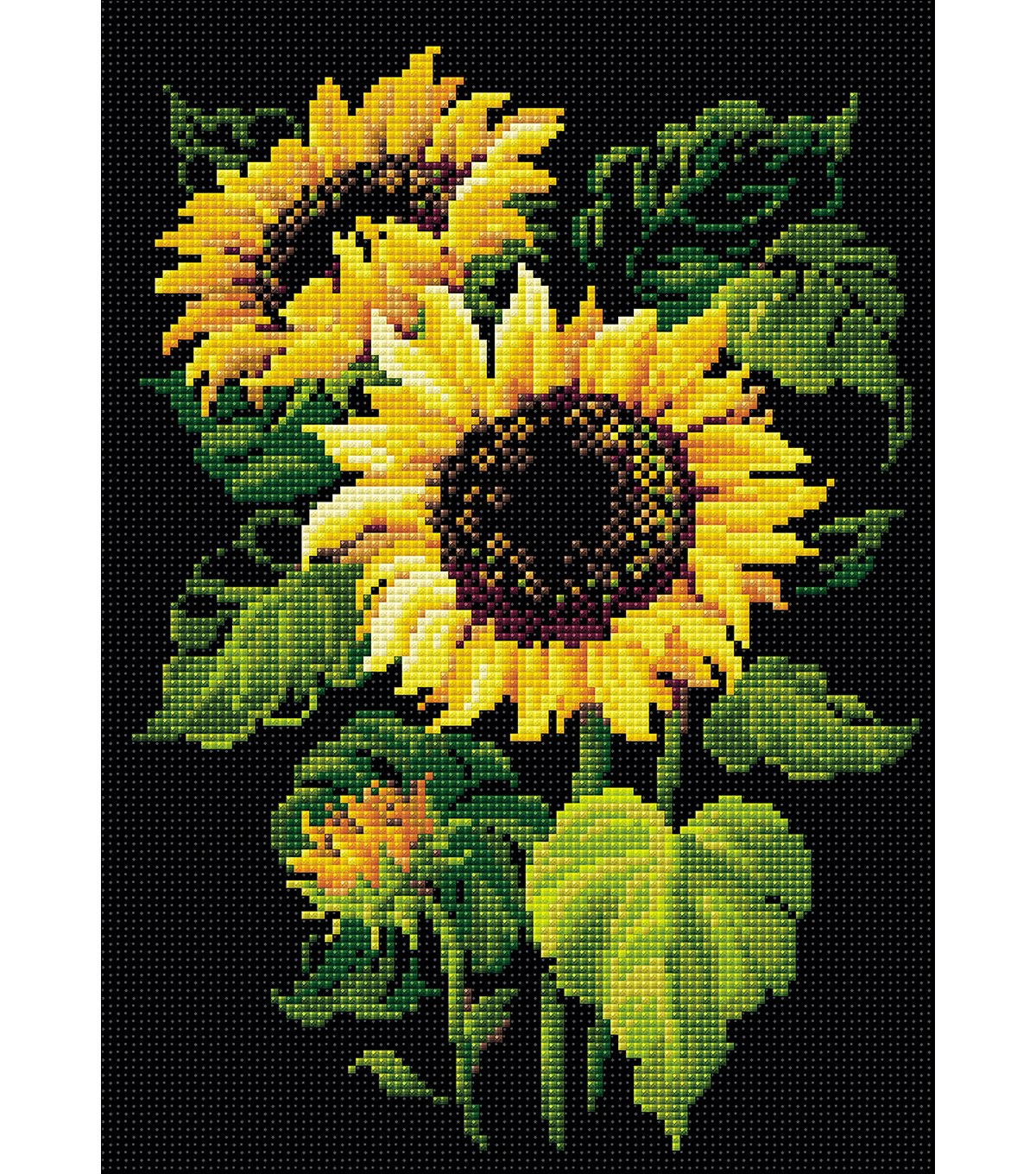 RIOLIS Diamond Mosaic Embroidery Kit 10.75\u0022X15\u0022-Sunflowers