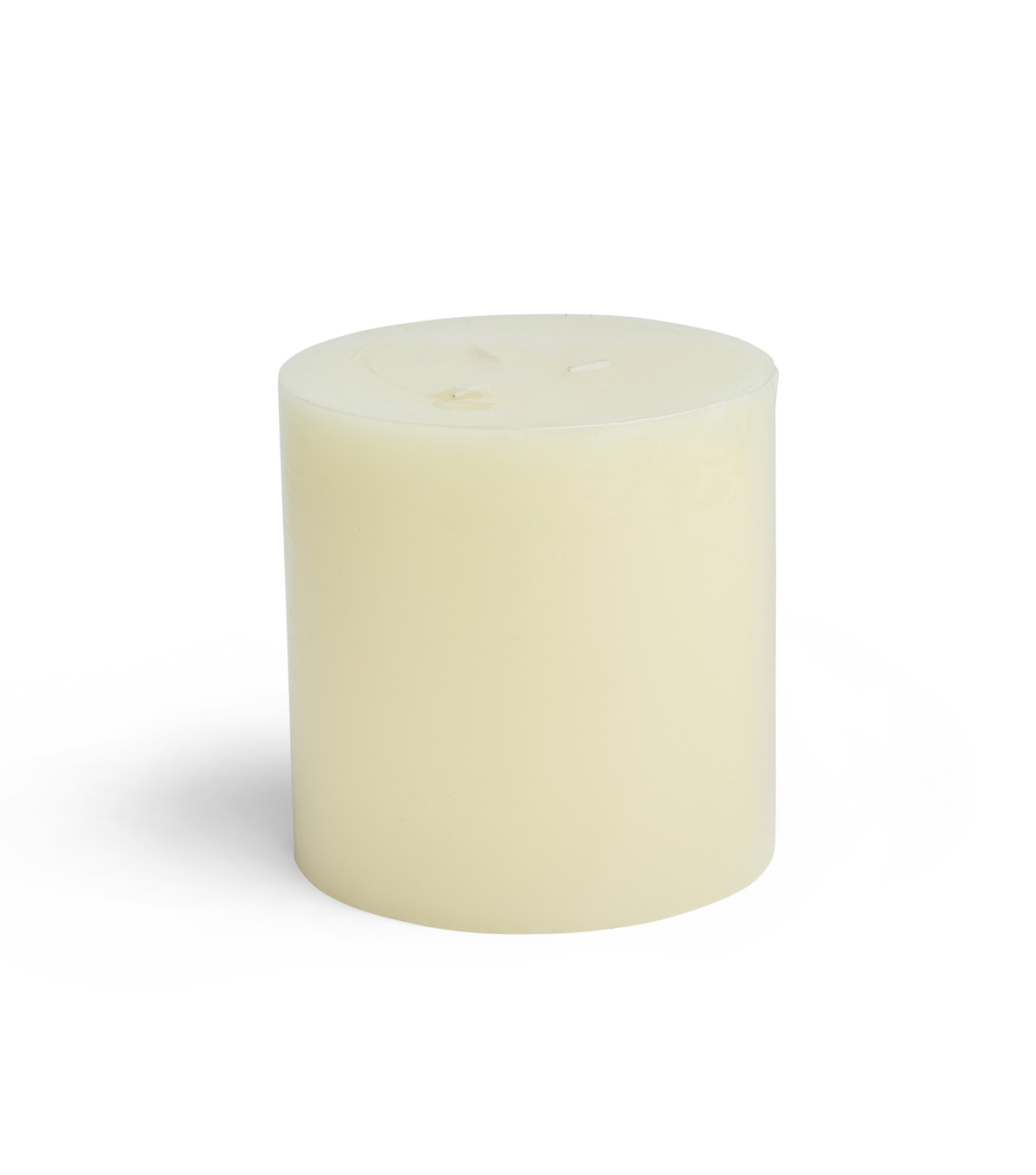Hudson 43 Candle & Light 5\u0027\u0027x5\u0027\u0027 3-Wick Pillar Candle-Ivory