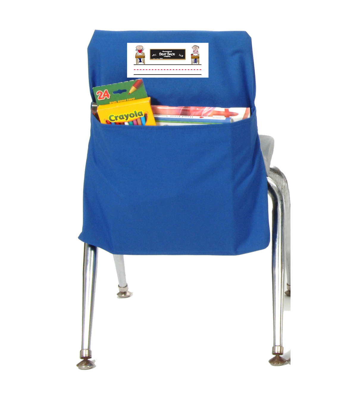 The Original SEAT SACK Company 2 pk Small Chair Storage Pockets-Blue