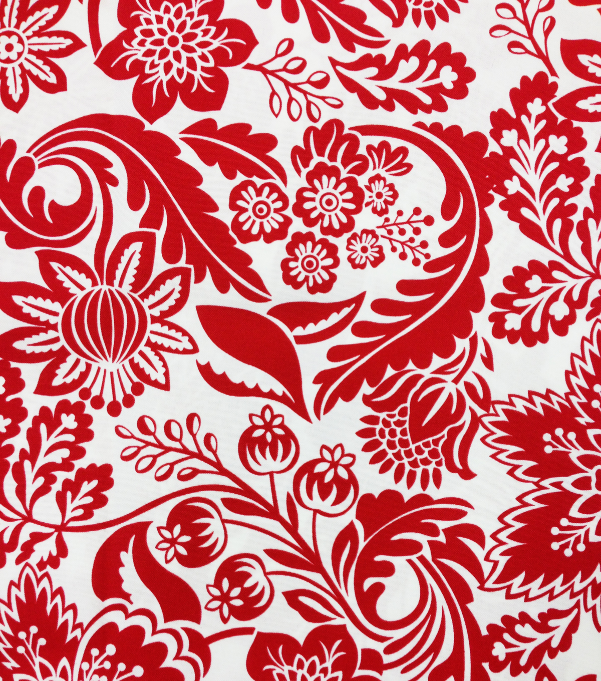 Outdoor Fabric-Floral Red