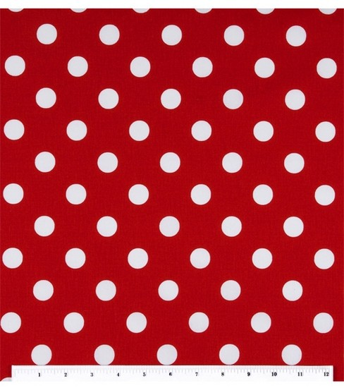 Keepsake Calico Cotton Fabric 44\u0027\u0027-Large Dots On Lipstick