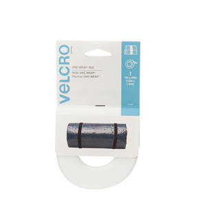 VELCRO Brand ONE-WRAP Roll 12ft x 3/4in, white