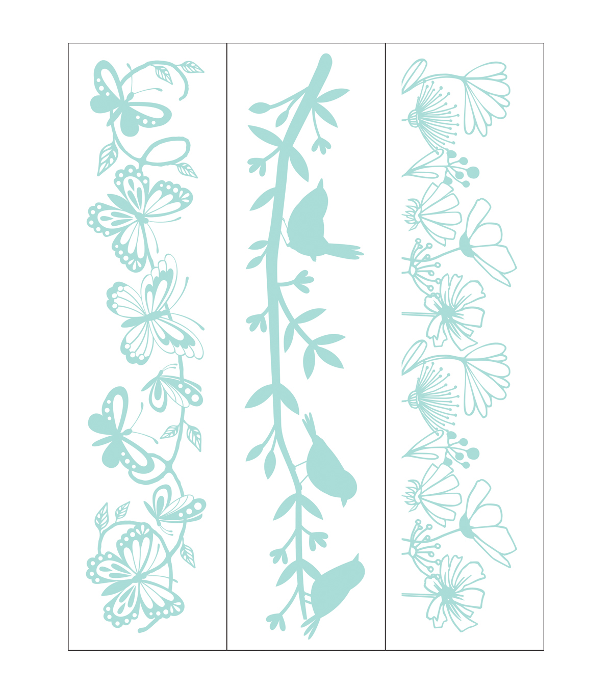 Park Lane 3 pk 1.4\u0027\u0027x5.75\u0027\u0027 Border Embossing Folders-Garden