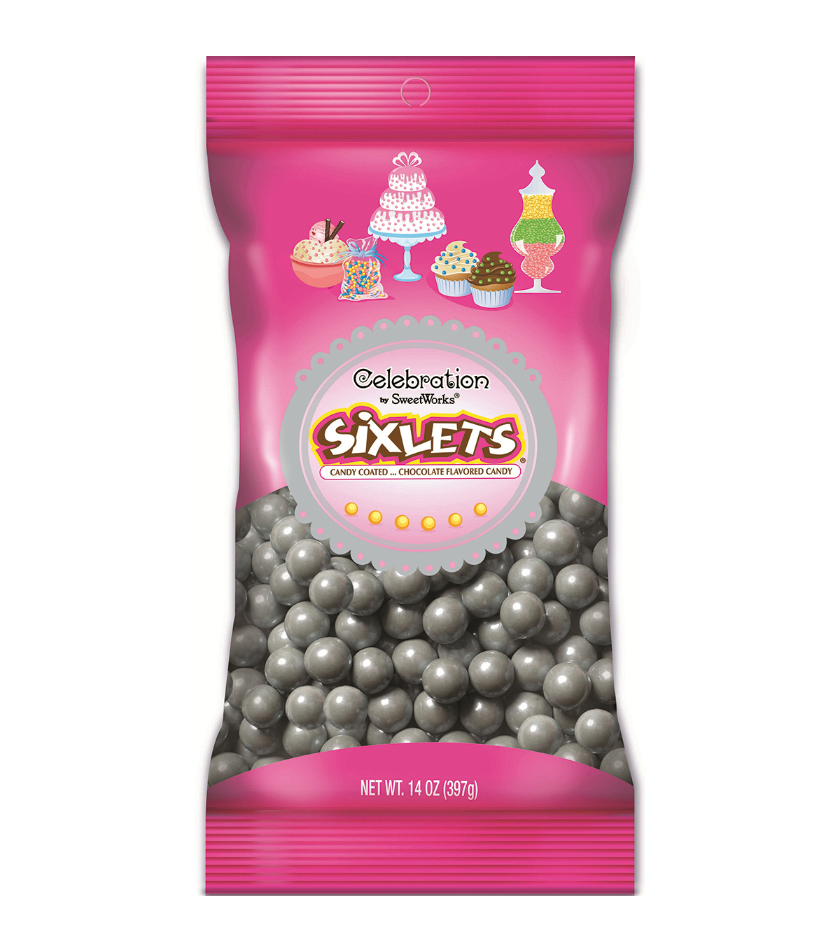 Celebrations By Sweetworks Candy Sixlets14oz Bag