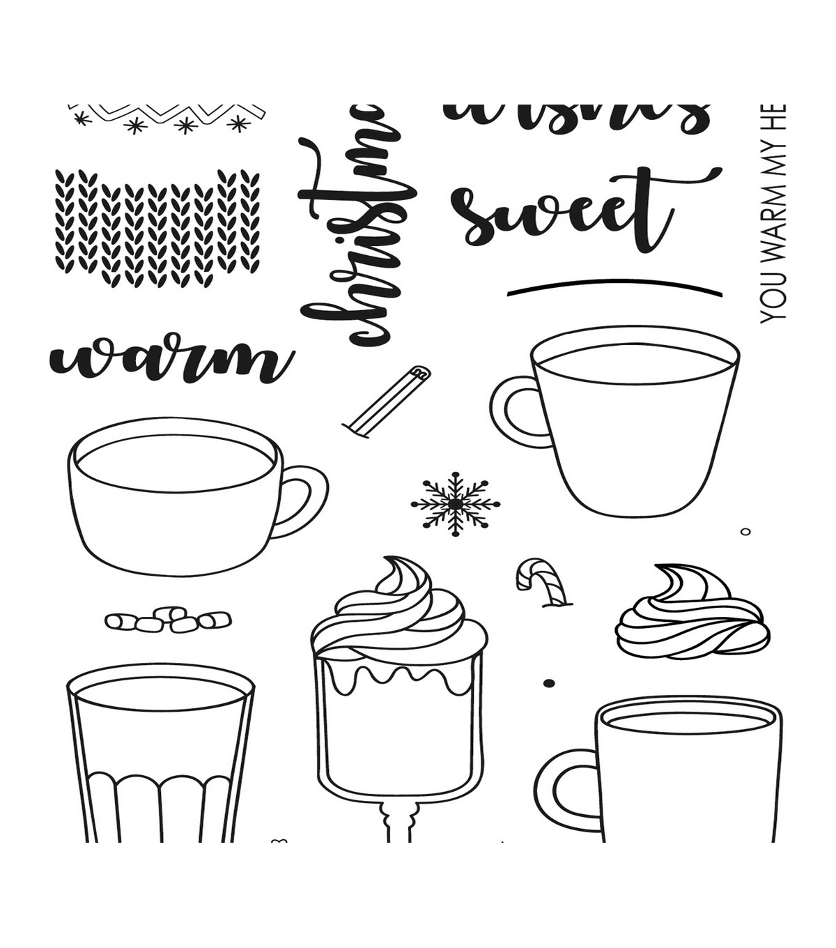 Uniquely Creative 22 pk Photopolymer Clear Stamps-Warm Wishes