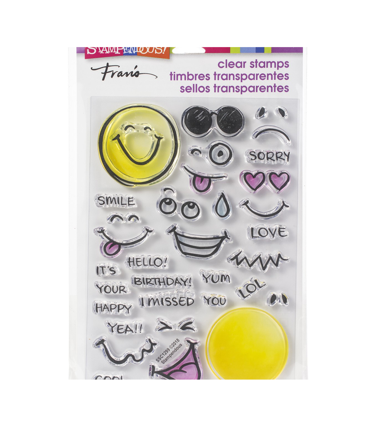 Stampendous Perfectly Clear Stamps-Emojis