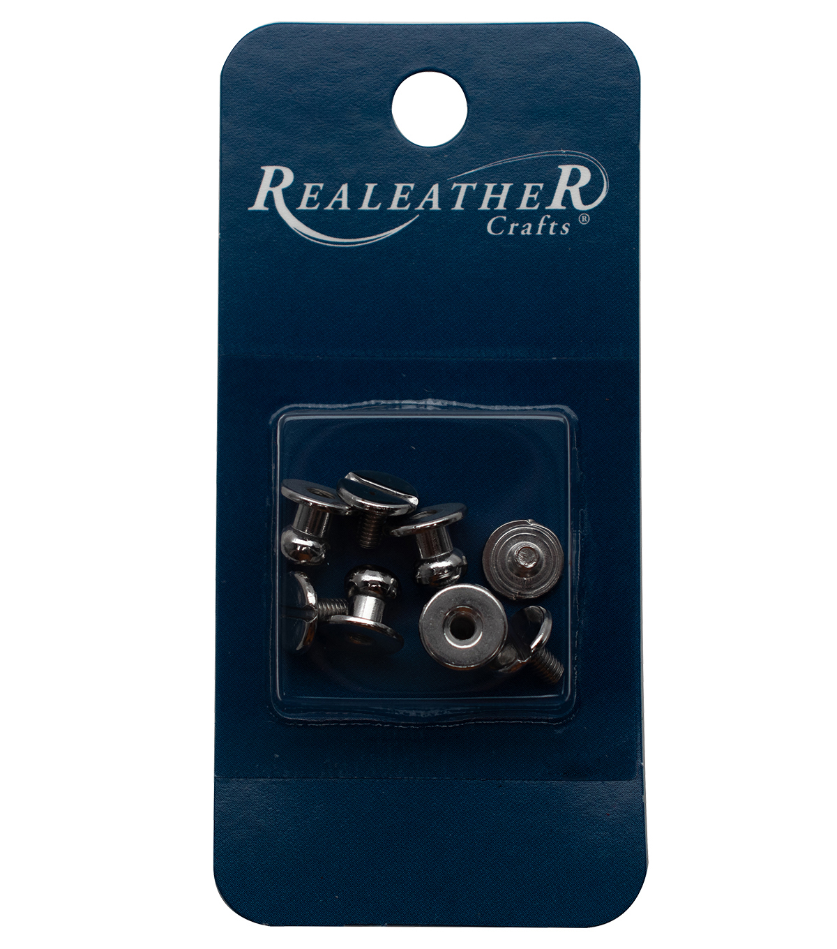 Realeather 4pk Button Studs-Nickel