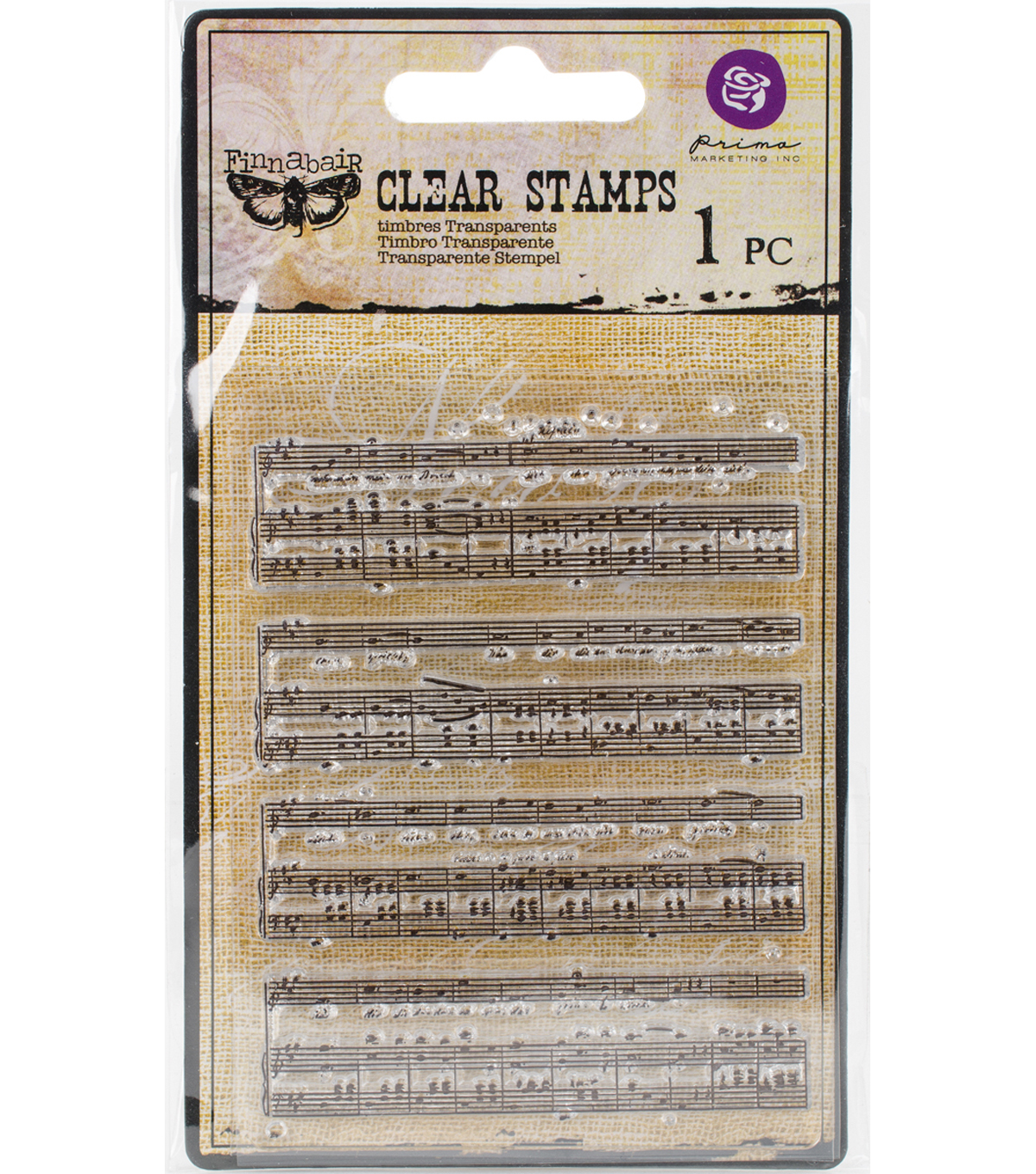 Prima Marketing Finnabair Clear Stamps-Music To My Ears