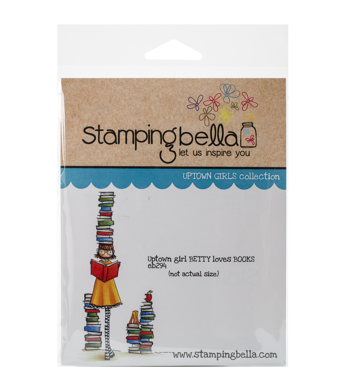 Stamping Bella Uptown Girl Betty Loves Books Cling Stamp