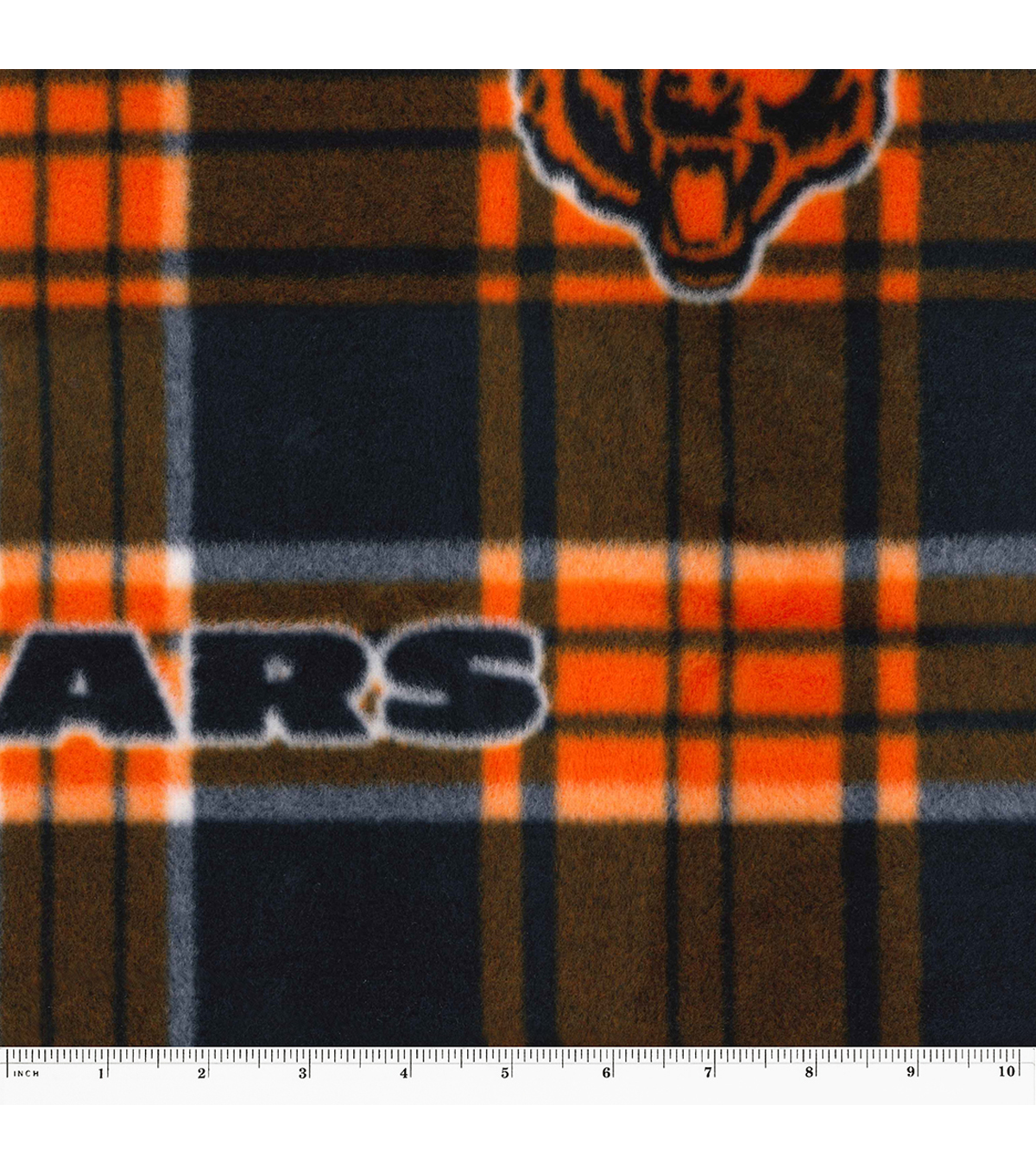 Chicago Bears Fleece Fabric 58\u0027\u0027-Plaid