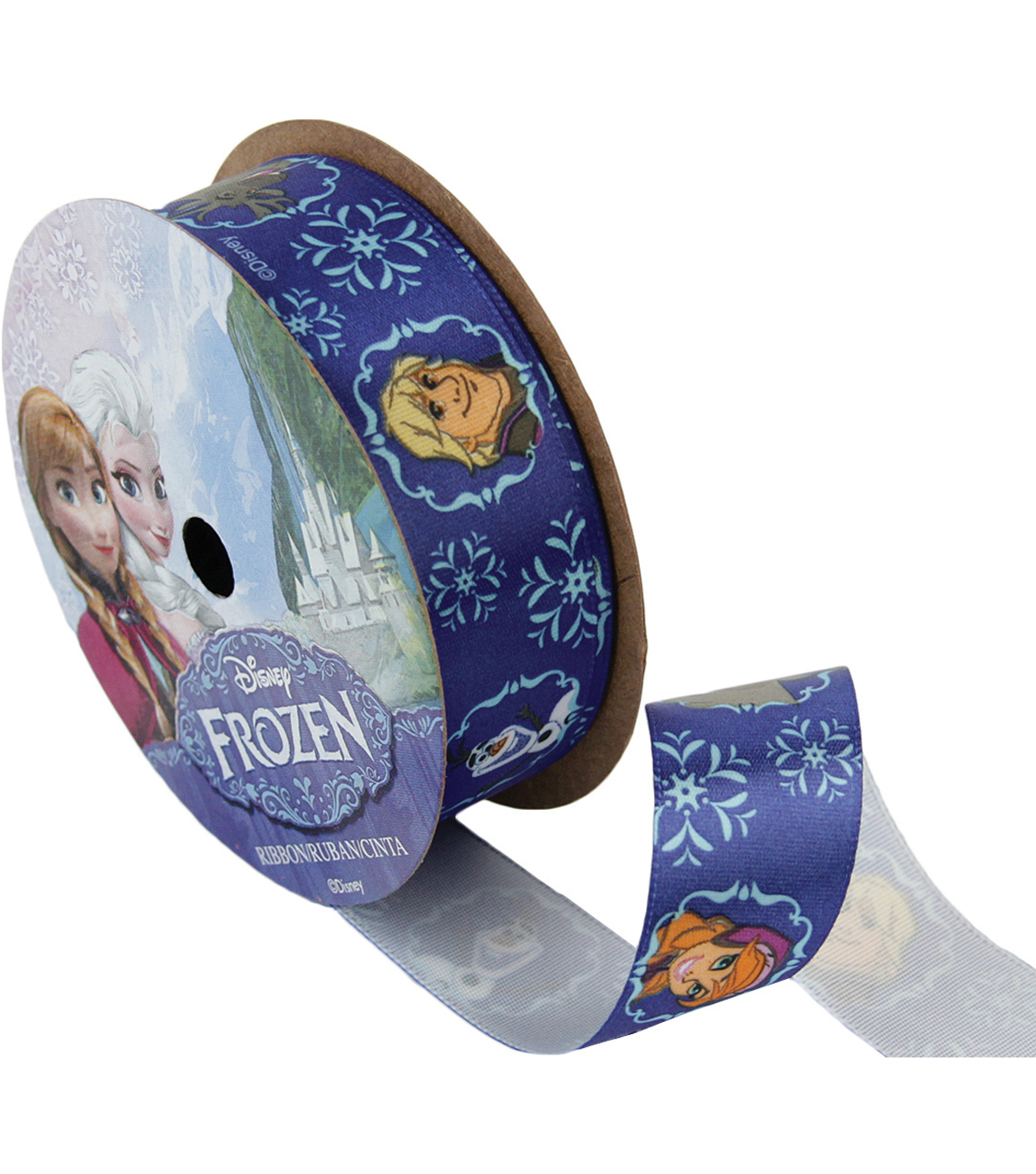 Frozen Ribbon 7/8\u0022x9\u0027-Royal Characters