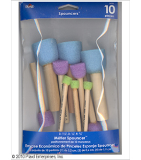 Plaid 10 pk Art Materials Spouncers