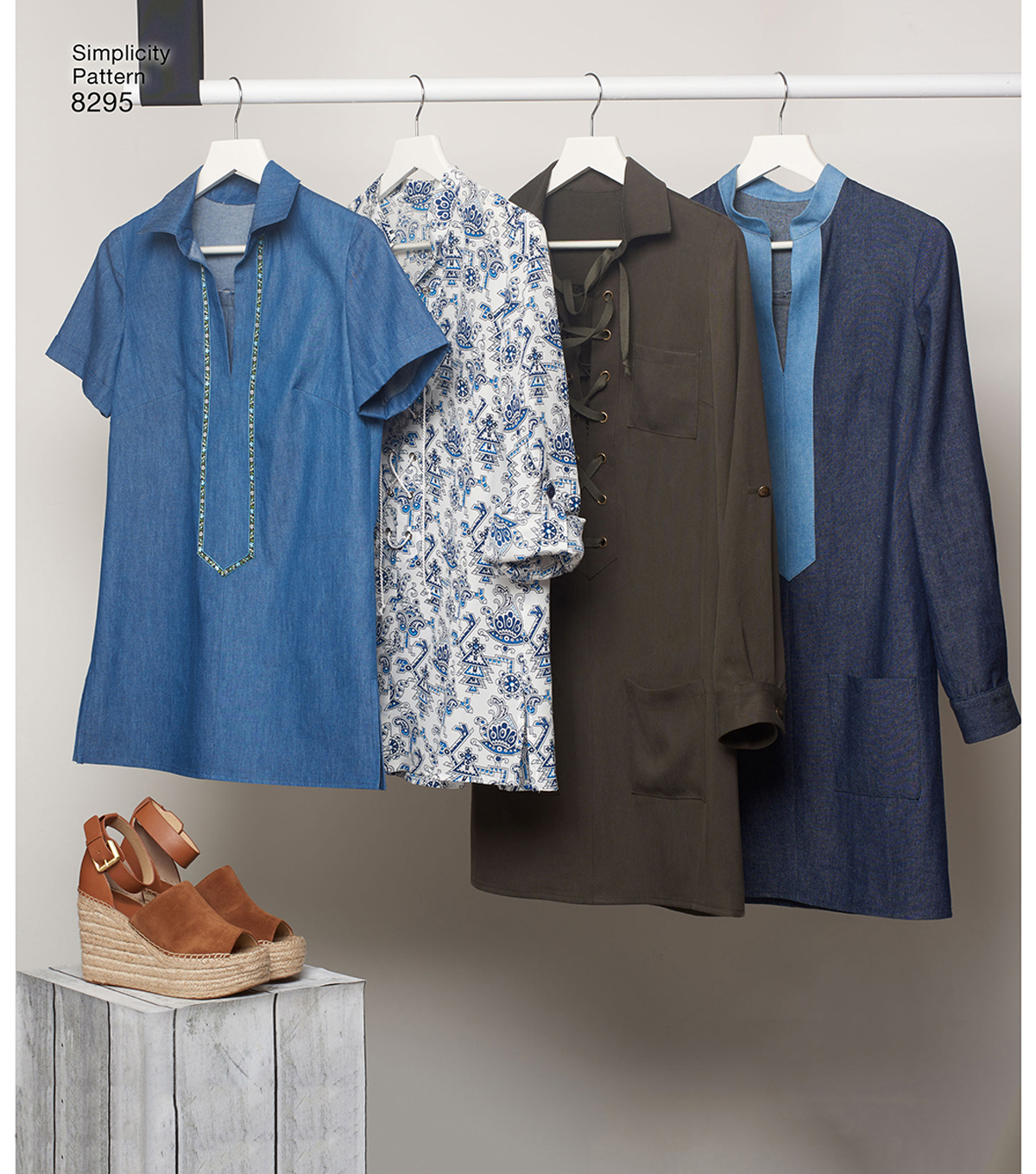 Simplicity Pattern 8295 Misses\u0027 Tunic or Dress-Size H5 (6-8-10-12-14)