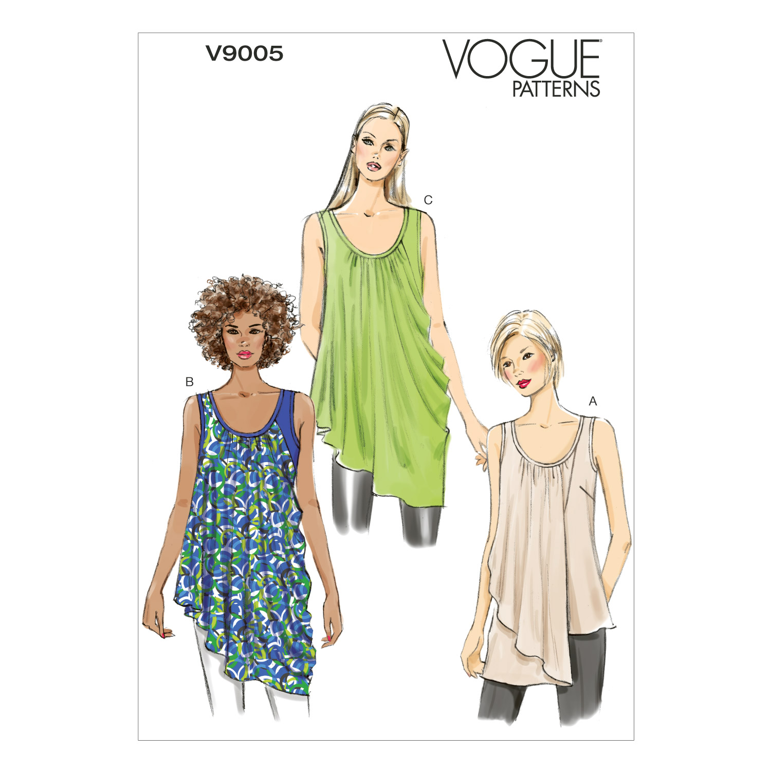 Vogue Patterns Misses Top-V9005