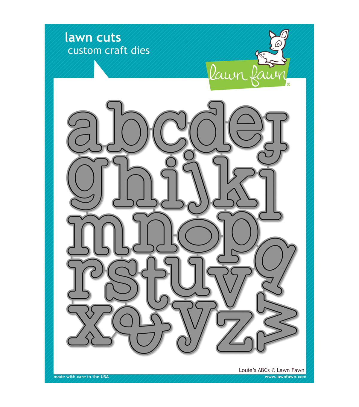 Lawn Fawn Lawn Cuts Custom Craft Die -Louie\u0027s ABC\u0027s