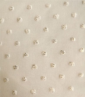 Silky Apparel Fabric 53\u0027\u0027-White Dot with Foil Clip