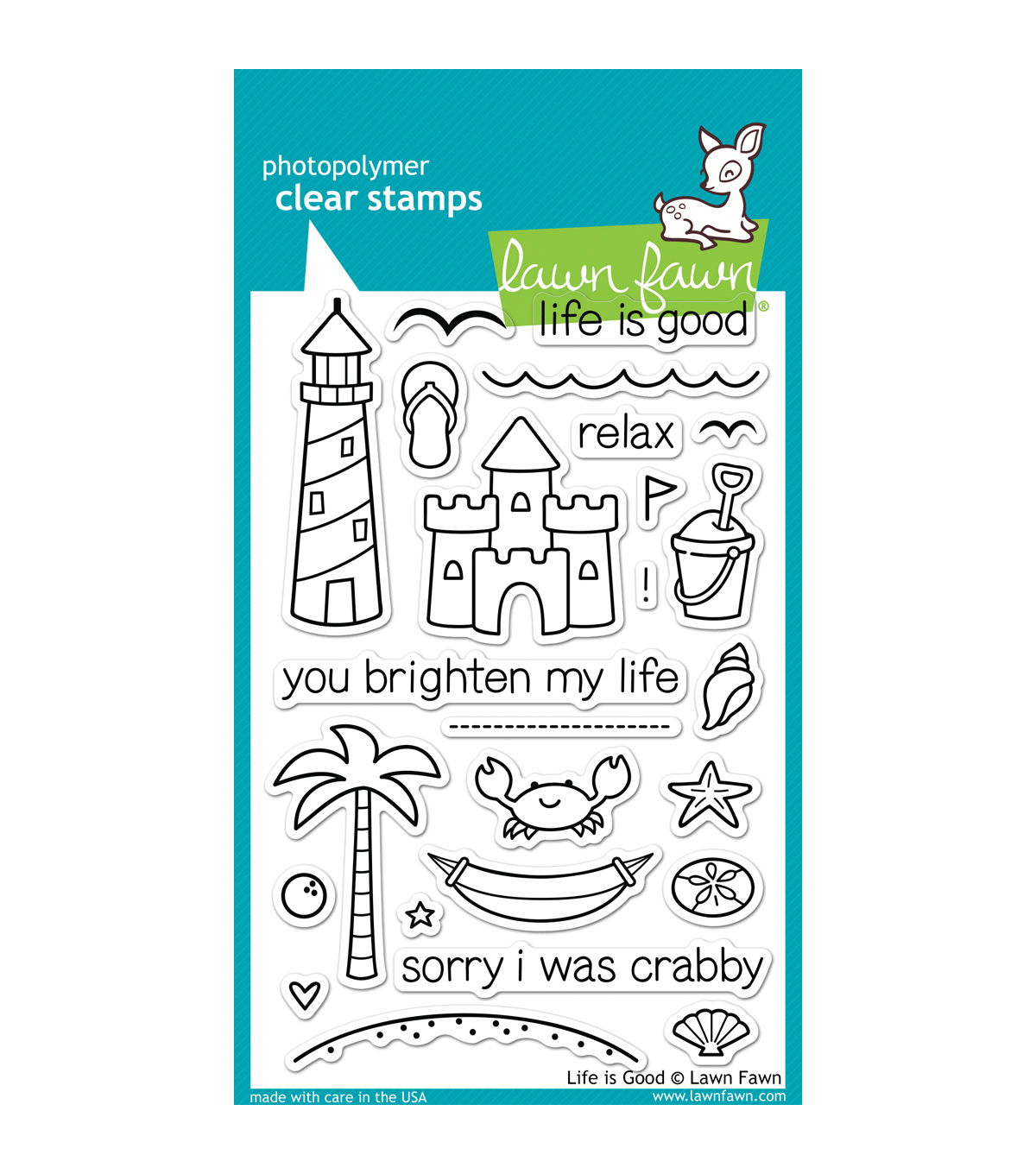 Lawn Fawn Clear Stamps 4\u0022X6\u0022-Life Is Good