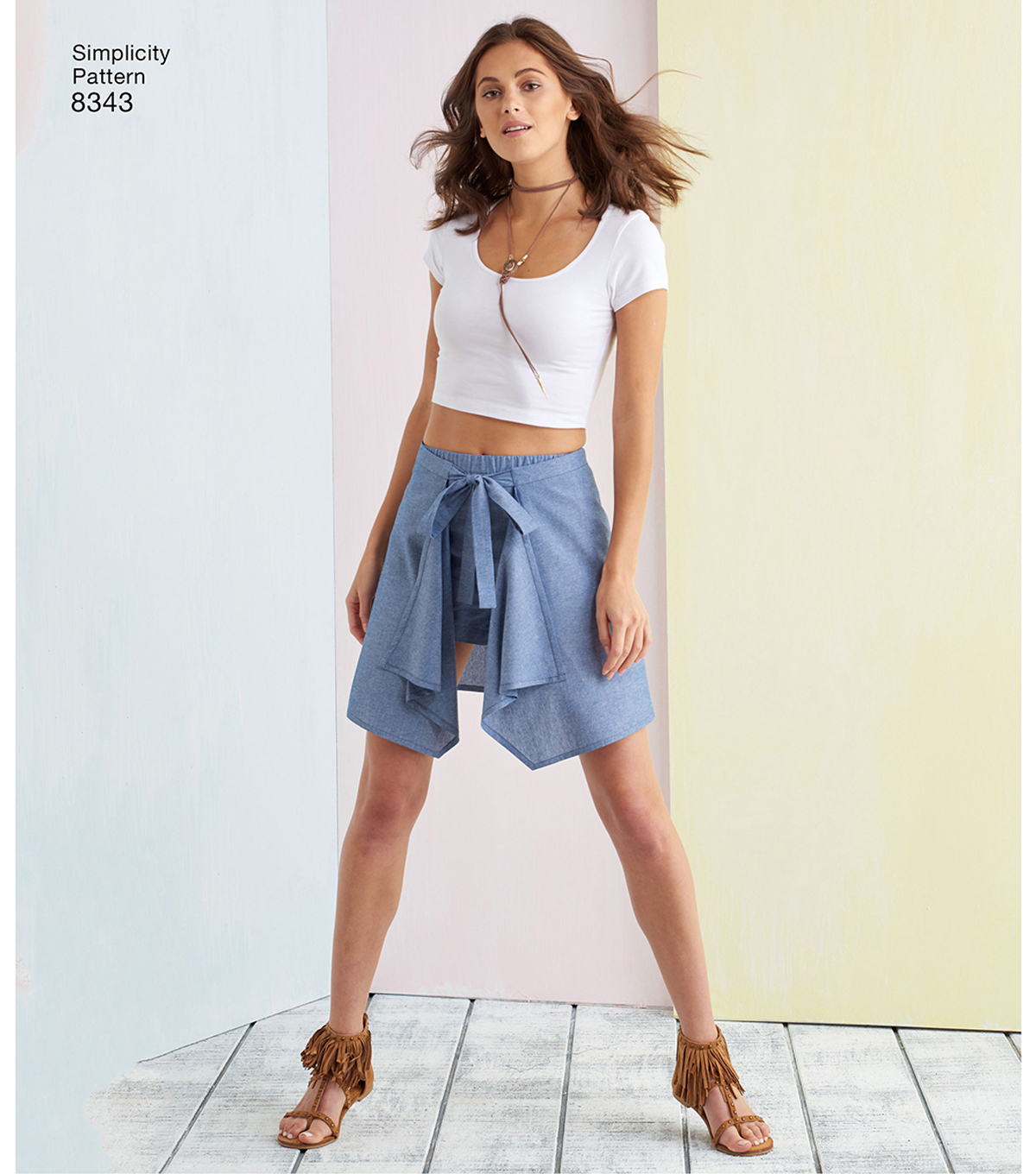 Simplicity Pattern 8343 Misses\u0027 Skirt & Shorts-Size R5 (14-16-18-20-22)