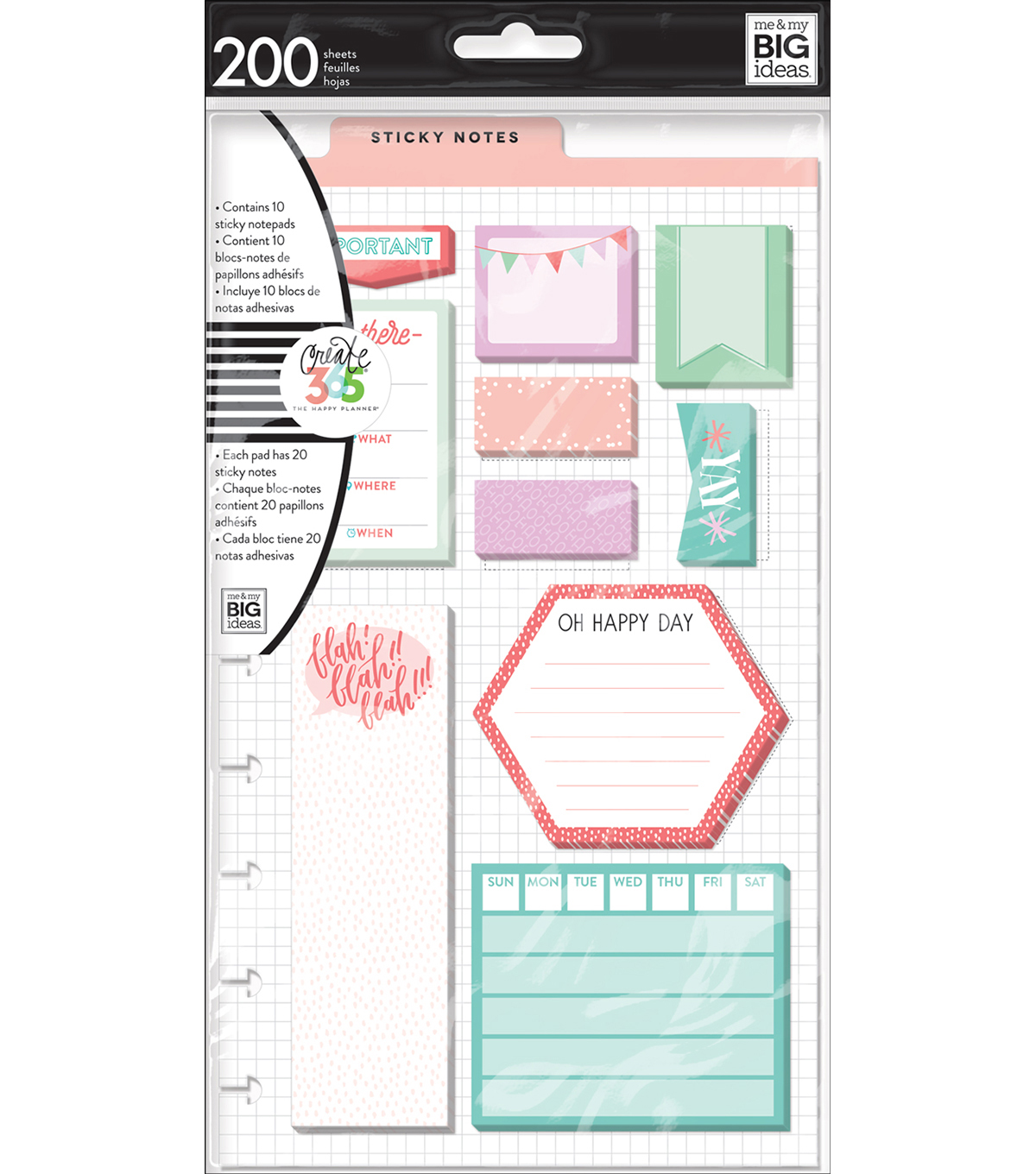 The Happy Planner Planner Sticky Notes-Be There