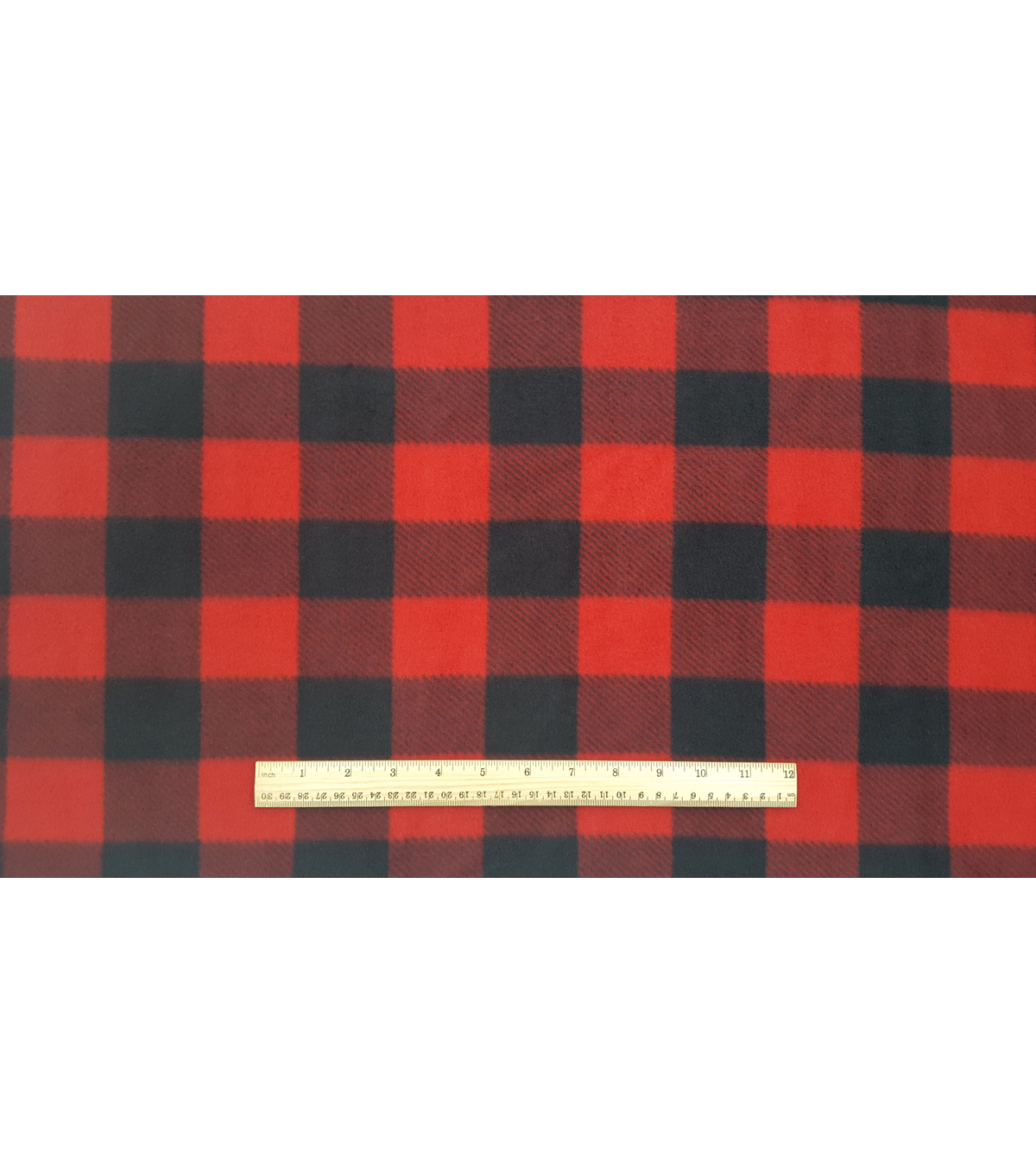 Anti-Pill Fleece Fabric 59\u0027\u0027-Red & Black Buffalo Check