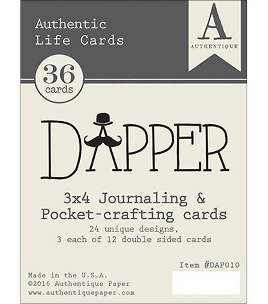Dapper Authentic Life Cards 3\u0022X4\u0022 Pocket Crafting & Journaling Cards