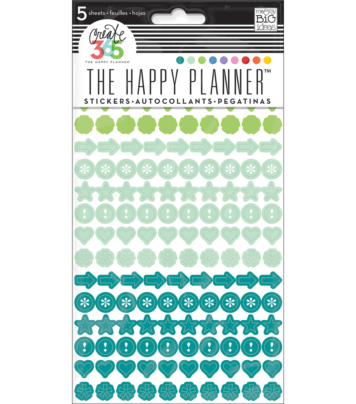 The Happy Planner Stickers-Colorful Dots