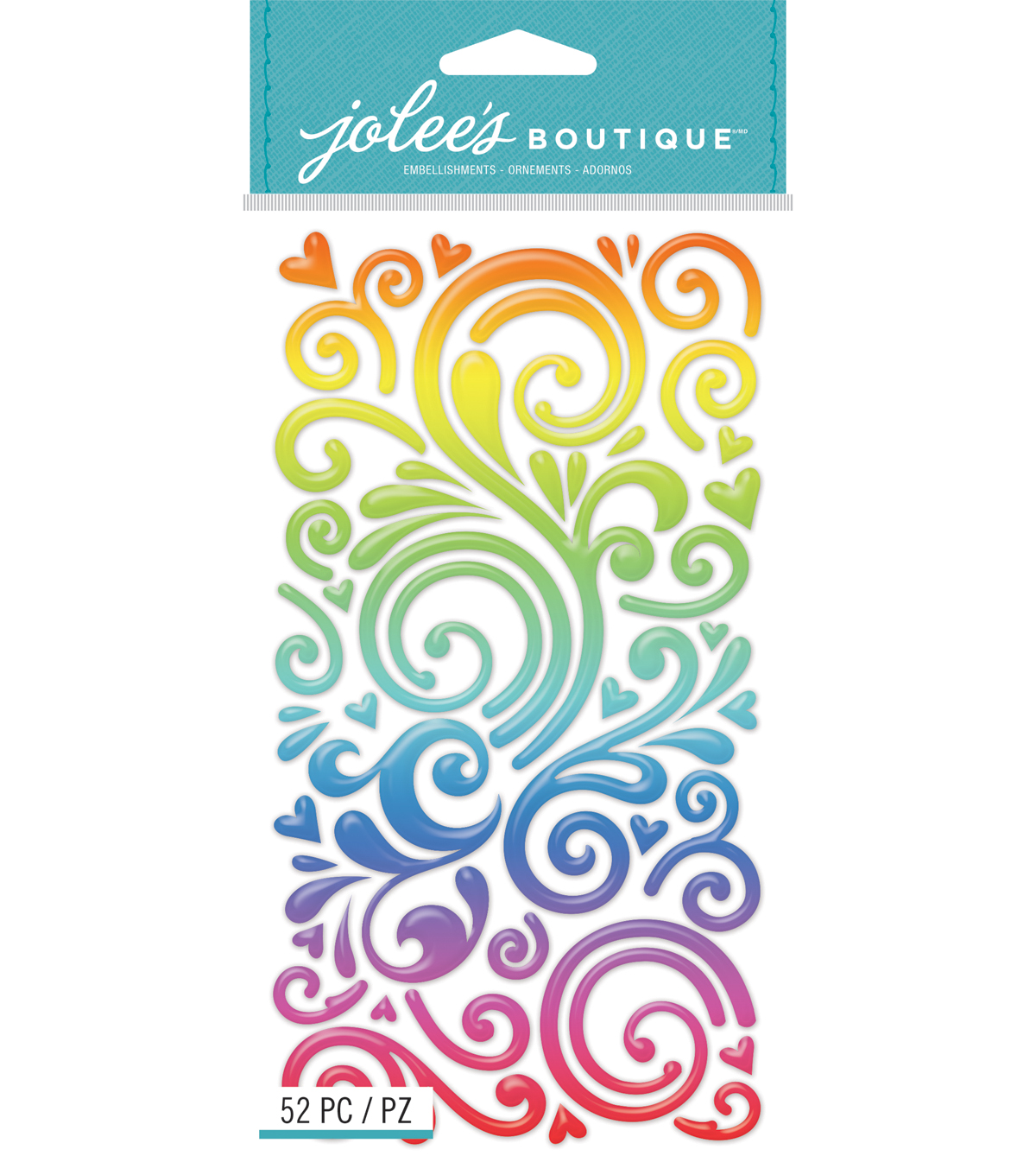 Rainbow Swirls Stickers