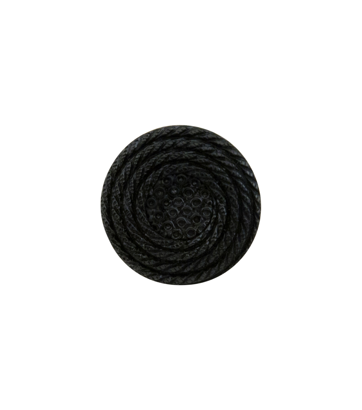 La Mode 3 pk 0.63\u0027\u0027 Round Woven Shank Buttons-Black