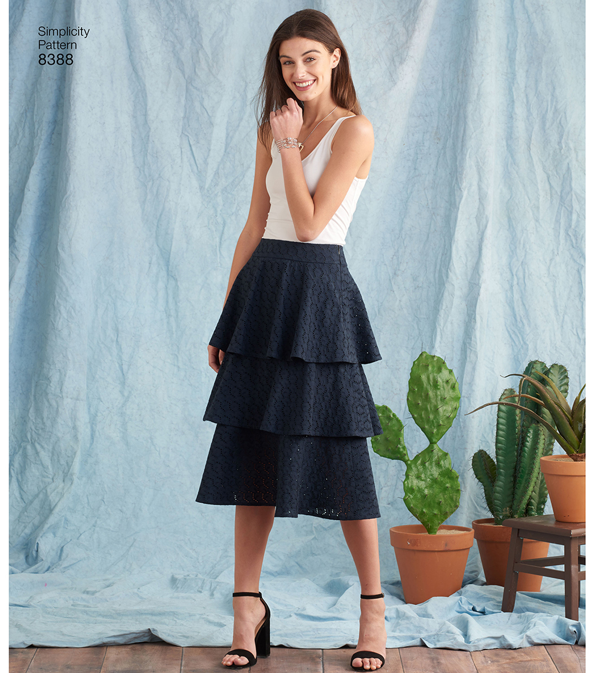 Simplicity Pattern 8388 Misses\u0027 Skirts-Size H5 (6-8-10-12-14)