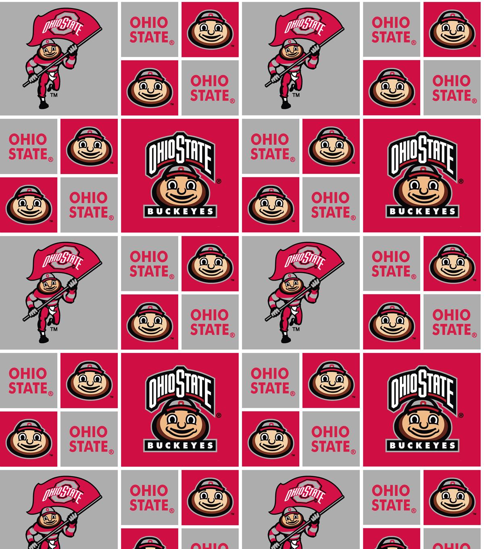 Ohio State University Buckeyes Cotton Fabric 43\