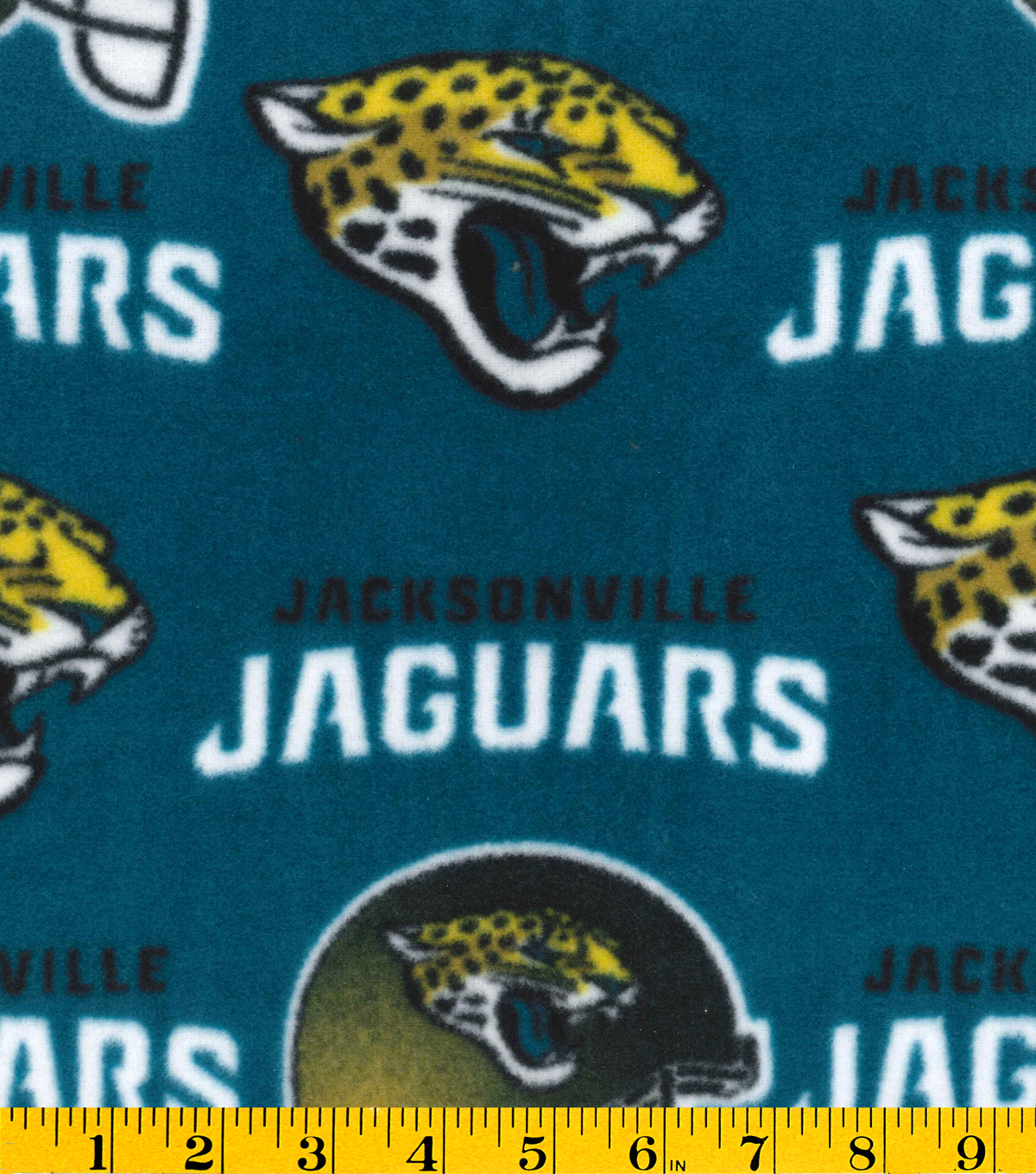 Jacksonville Jaguars Fleece Fabric 58\u0022-Teal