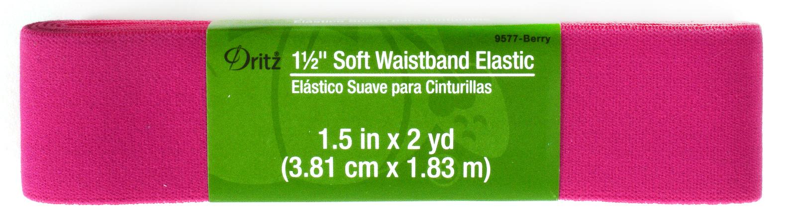 aca1b68790 Dritz 1 1 2 u0022 Soft Waistband Elastic Berry