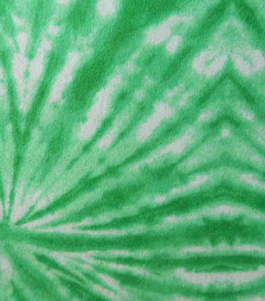 Snuggle Flannel Fabric -Kelly Green Circle Tiedye