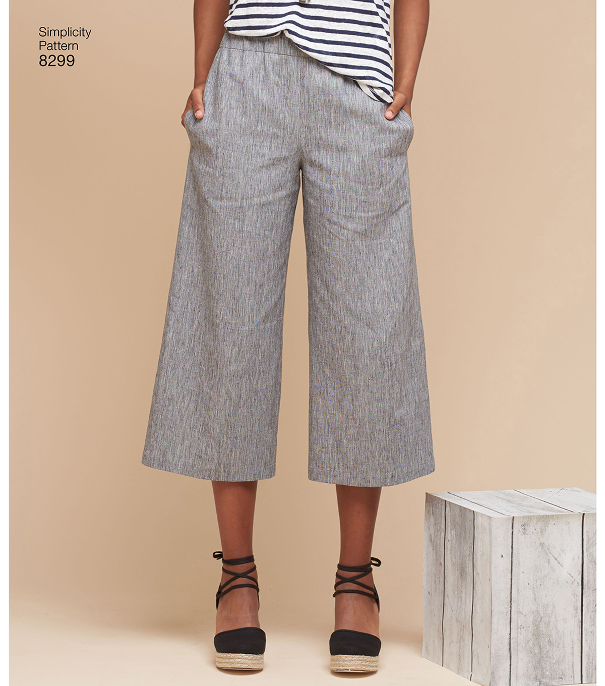 Simplicity Pattern 8299 Misses\u0027 Skirts or Pants-Size H5 (6-8-10-12-14)