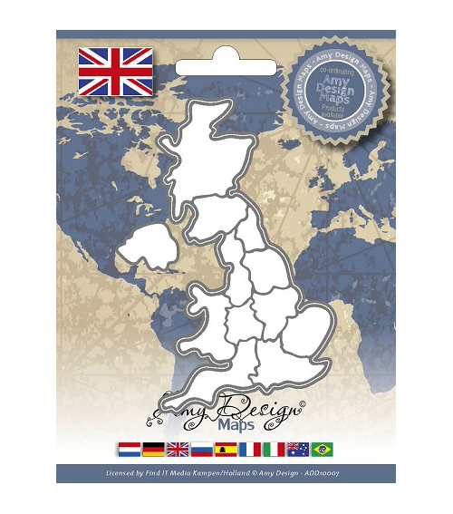 Amy Design Find It Trading Map Die-United Kingdom