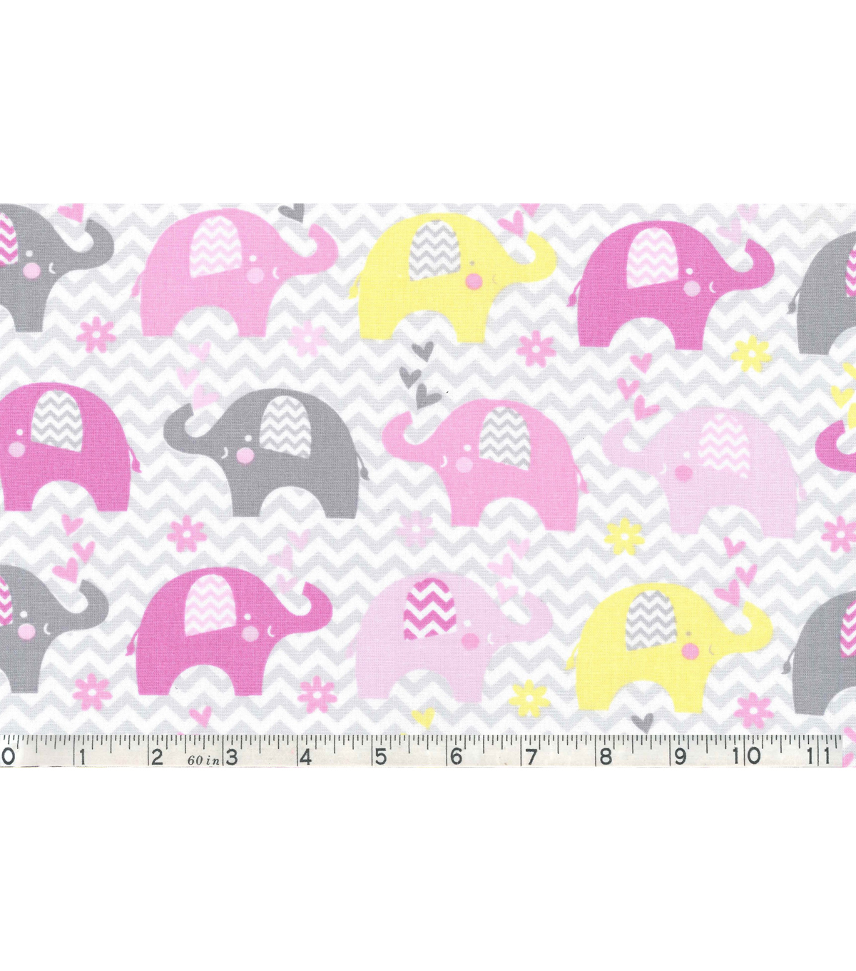 Nursery Cotton Fabric 43\u0022-Dream Big Elephant