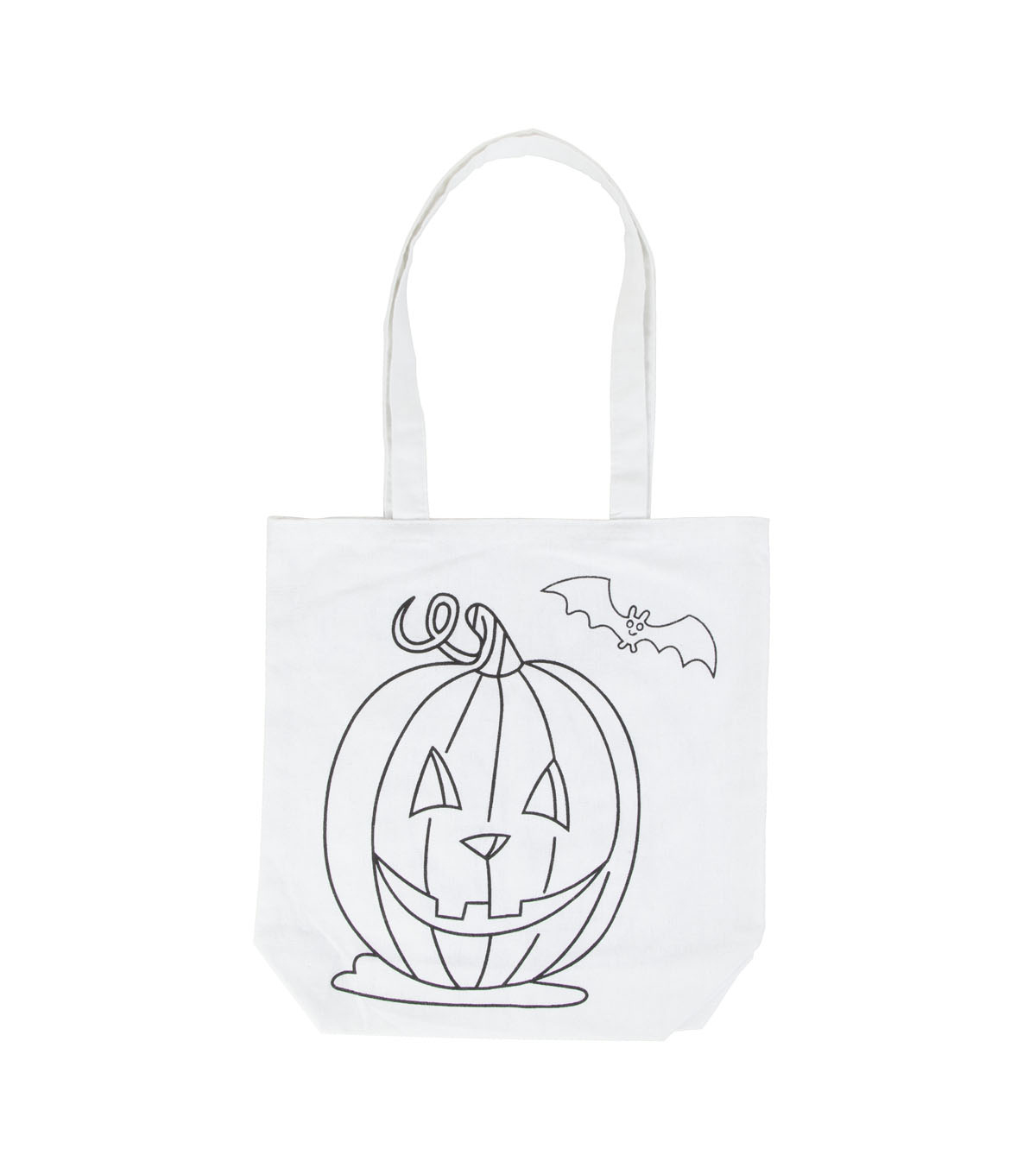 Tulip Colorme Tote Jack O Lantern On White