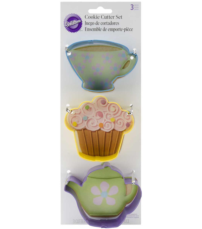 Wilton Cookie Cutter Set 3 Pkg Tea Party