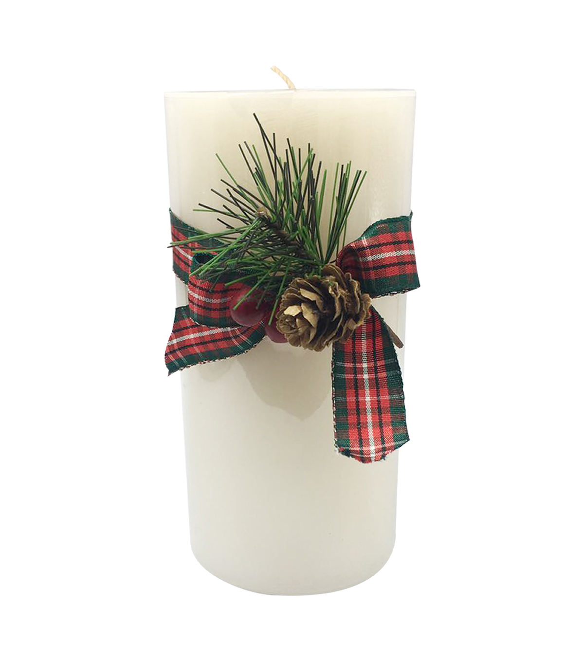 Handmade Holiday 3\u0027\u0027x6\u0027\u0027 Vanilla Bean Scented Pillar Candle-Ivory