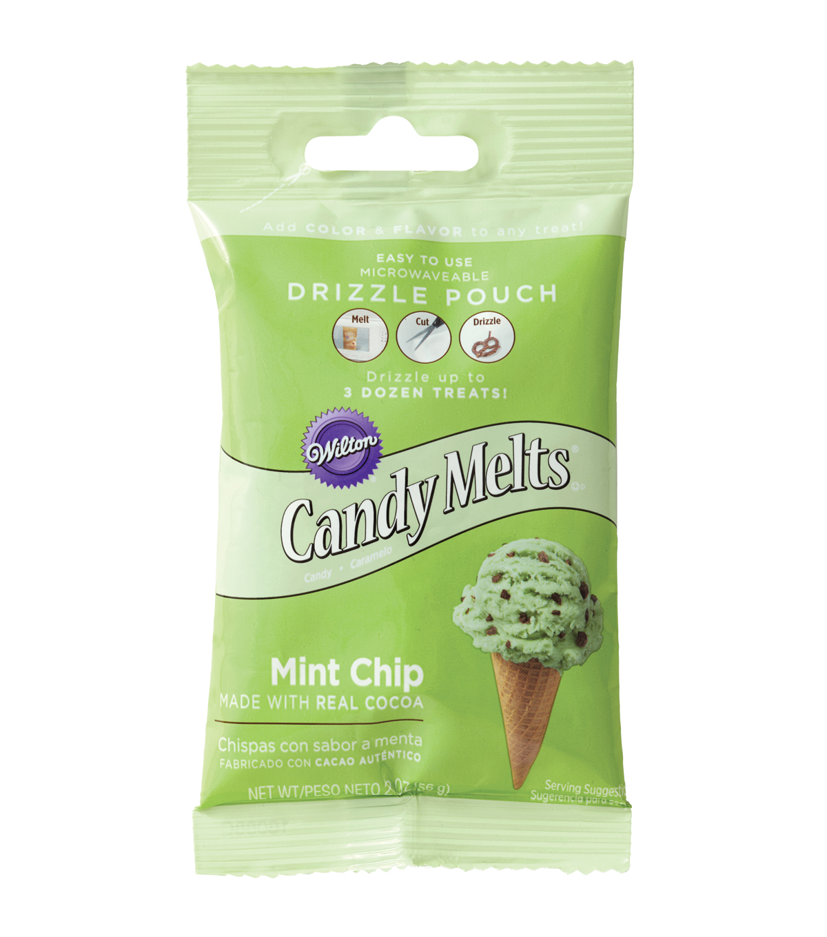 Wilton Drizzle Pouch 2oz-Mint Chocolate Chip