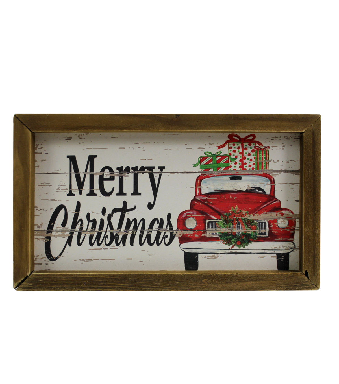 makeru0027s holiday christmas wall decor truck merry christmas - Vintage Christmas Wall Decor
