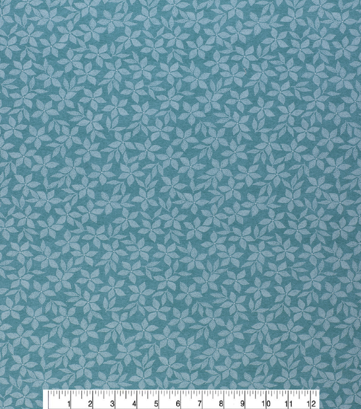 Keepsake Calico Cotton Fabric-Teal Dots & Flowers