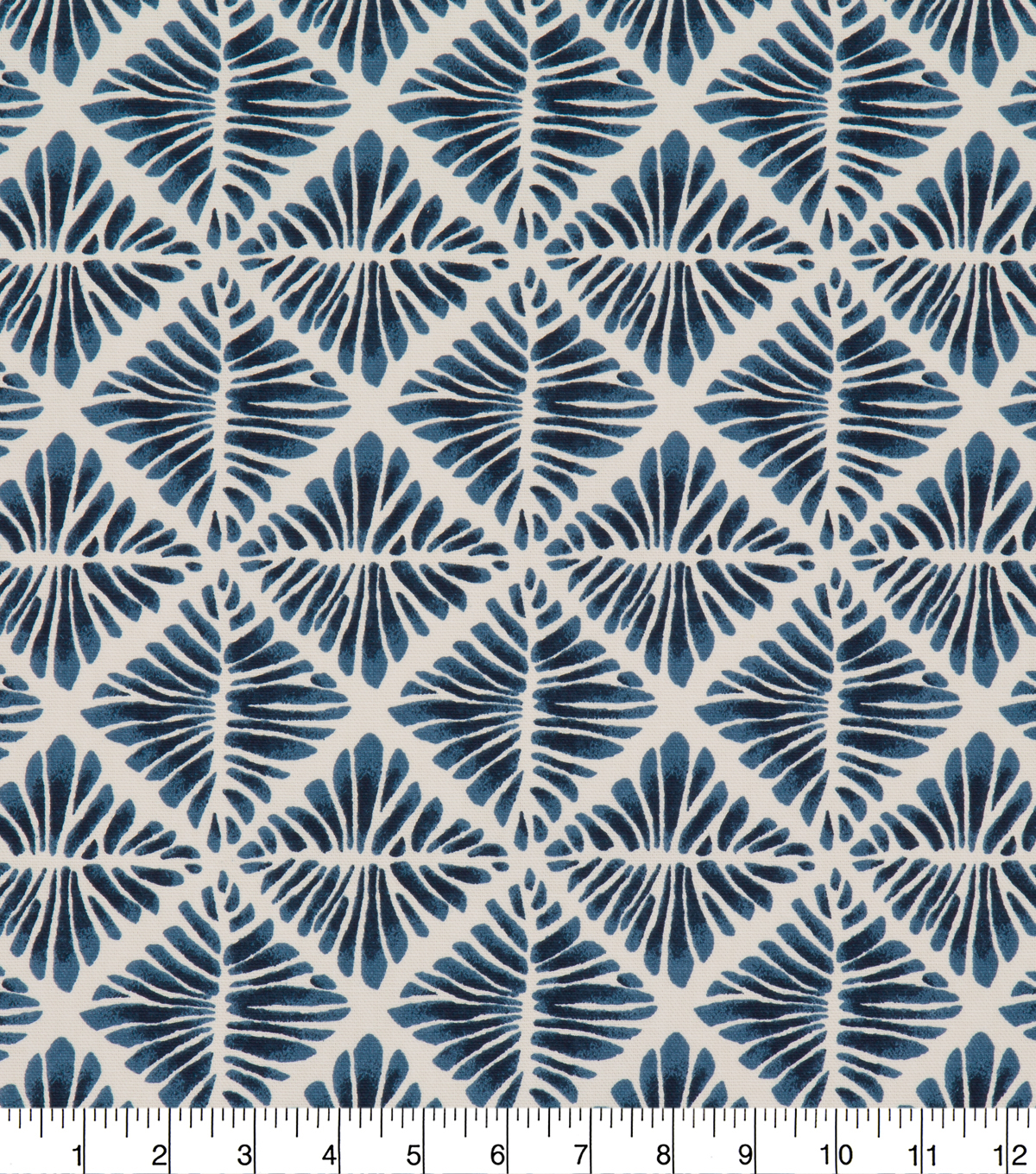 Robert Allen @ Home Print Swatch 55\u0022-Gem Field Indigo
