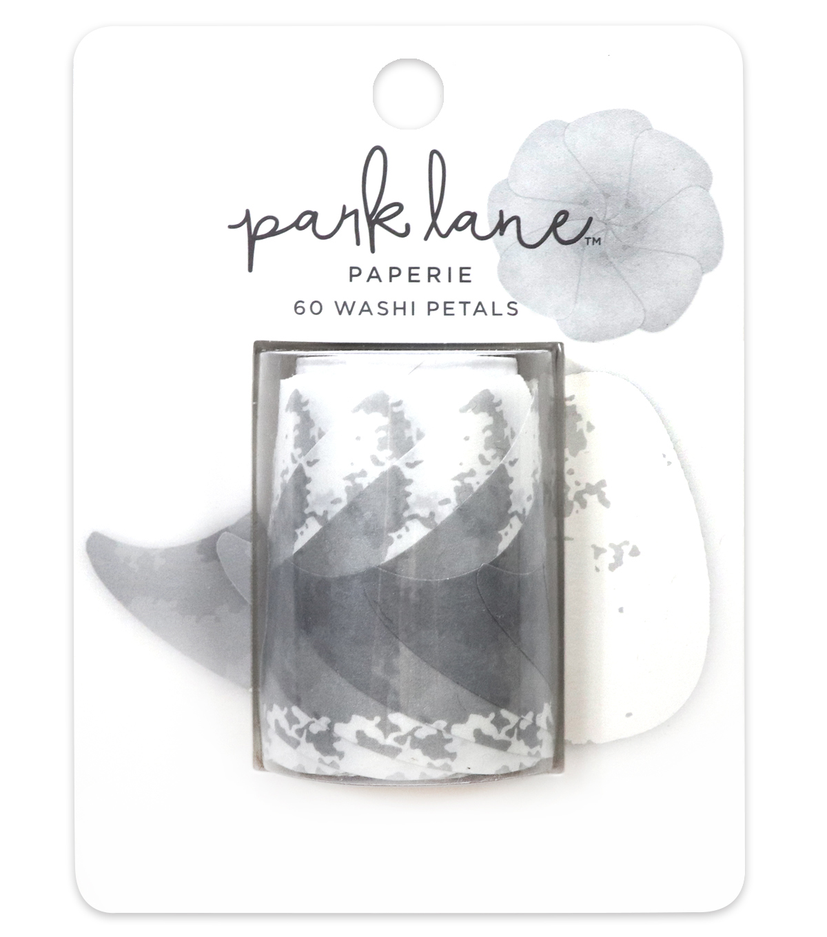 Park Lane Paperie 60 pk 50 mm Washi Petals-Gray